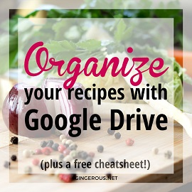 HOW TO ORGANIZE YOUR RECIPES WITH GOOGLE DRIVE – Gamelan Space